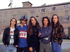Old pic of Pearl Jam.  (Whats up with that coat stone? LOL)