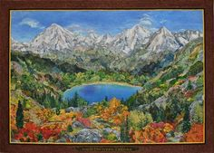 """This landscape quilt is absolutely astonishing! Be sure to click on """"view full size"""" to really appreciate the work. High Country Colors landscape quilt by Kathy McNeil via Quilting Daily Reader Gallery."""