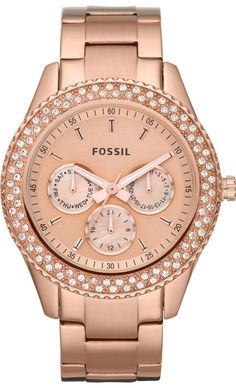 #Fossil #Watch Women's ES3003 Stainless Steel Analog Pink Dial Watch