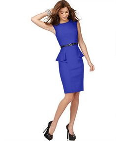 [Interview]  $39.98 XOXO Juniors Dress, Cap Sleeve Solid Black Fitted Peplum Sheath - Juniors Suits & Suits Separates - Macy's