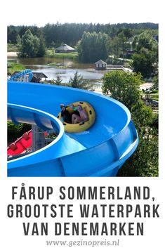 Denk je aan Denemarken met kinderen, dan denk je natuurlijk direct aan Legoland. Maar er zijn nog meer leuke pretparken om te bezoeken met het gezin. Tijdens onze laatste vakantie in Noord-Jutland bezochten we Fårup Sommerland, een half uur boven Aalborg. Dit park bestaat uit twee delen: het pretpark met attracties, en het grootste waterpark van Denemarken met enkele verwarmde baden. Legoland, Aarhus, Day Trips, Places To See, Scandinavian, Wanderlust, Camping, Vacation, Outdoor Decor