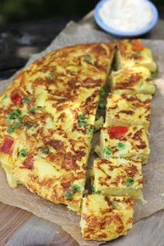 The Devil's Food Advocate: Spanish Tortilla with Roasted Peppers and Peas
