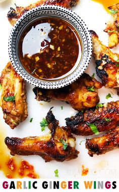 garlic ginger wings - alisaburke