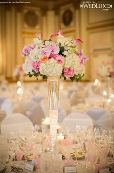 Tall Wedding Reception Centerpieces | Weddings Romantique