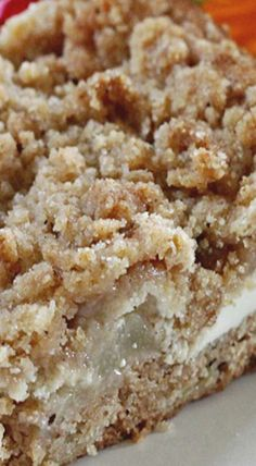 Cream Cheese Pear Coffee Cake
