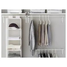 Clothes Rail - Room Dividers - IKEA Closet Bedroom, Bedroom Storage, Bedroom Decor, Open Wardrobe, Wardrobe Rack, Design Apartment, Apartment Living, Small Storage, Storage Spaces