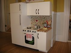 home made play kitchen - Bing Images