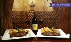 Vince Neil's Tatuado Eat Drink Party - The Strip: New York Strip Steak Dinners with Wine for Two or Four at Vince Neil's Tatuado Eat Drink Party (49% Off)