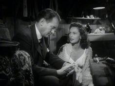 Geraldine Fitzgerald and George Sanders. The Strange Affair Of Uncle Harry 1945 Noir.