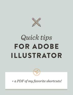 Since Adobe Illustrator is essential for my process, I thought it was time  a few of my favorite tools took the stage today. I hope you find these  Illustrator hacks useful, and hopefully learn something new!