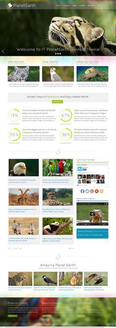 IT PlanetEarth - Responsive #Joomla Template for Business, Portfolio, Non-Profit