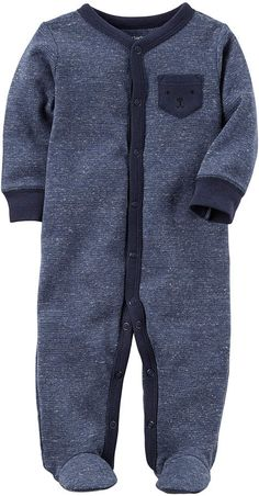 "OFFSPRING Dark Gray Multi Color VELOUR /""CAR/"" Footie BOY SIZES NWT"