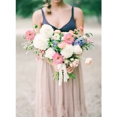 """""""We could stare at these #boho #flowers all day long! #weddingbouquet #bohowedding #bohoinspiration 