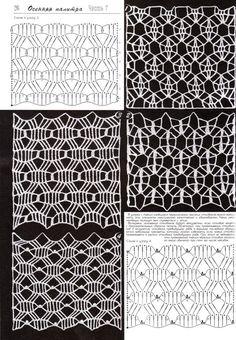 crochet home: crochet motifsPhoto from album Filet Crochet, Crochet Stitches Chart, Crochet Diagram, Crochet Motif, Irish Crochet, Knitting Stitches, Crochet Lace, Crochet Patterns, Beginner Knitting