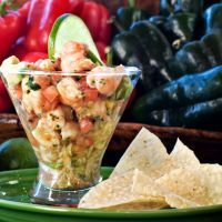 Tasty ceviche salad