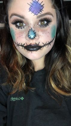 Scarecrow Halloween Face  #lipsense #senegencedistributor  Follow me on Facebook @Luvs Beauty Holidays Halloween, Halloween Make Up, Halloween Costumes, Halloween Face Makeup, Drawing Ideas, Blackberry, Twins, Facebook, Fall