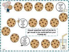 Cookie game board {freebie}