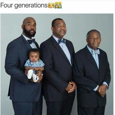 A Great-Grandfather, Grandfather, Father, And Son In One Beautiful Four Generation Photo Black Love, Black Dad, Black Fathers, Fathers Love, My Black Is Beautiful, Beautiful Family, Father And Son, Beautiful People, Cute Family