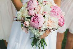 bouquet de mariée pivoines roses-nuances-pastel