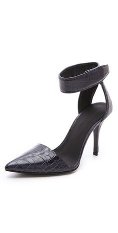 love these #alexanderwang croc heels