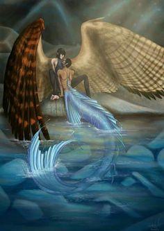 Mermaid Drawings, Mermaid Art, Mythical Creatures Art, Magical Creatures, Fantasy Kunst, Fantasy Art, Illustration Fantasy, Mermaids And Mermen, Merfolk
