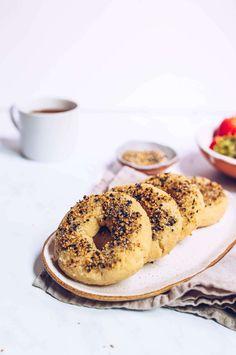 Paleo Everything Bagels (vegan, egg-free) via Food by Mars Brunch Recipes, Paleo Recipes, Bread Recipes, Easy Recipes, Paleo Menu, Baking Recipes, Paleo Breakfast, Breakfast Recipes, Vegan Egg