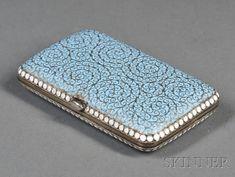 Russian Silver and Enamel Cigarette Case