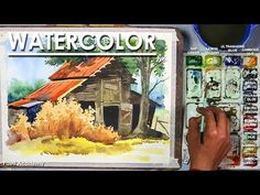Watercolor Landscape Tutorial, Watercolor Barns, Watercolor Art Diy, Watercolour Tutorials, Watercolor Paintings, Watercolours, Photoshop For Photographers, Photoshop Photography, Photoshop Actions