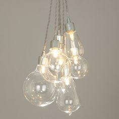 Buy John Lewis Croft Collection Kinsley Glass Dangle Cluster Ceiling Light Online at johnlewis.com