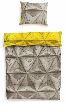 Dekbedovertrek  Monogami Mosterd 140 x 220cm incl kus - Snurk