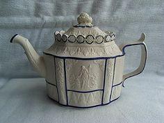 C1795 Castleford Ware Semi Porcelaneous Teapot & Cover Yorkshire