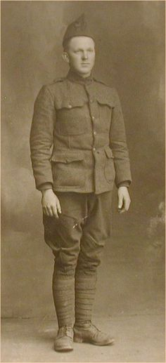 WWI American Uniforms were dark green with form fitting pants to the ankles and a belt for keeping important items around the waist.