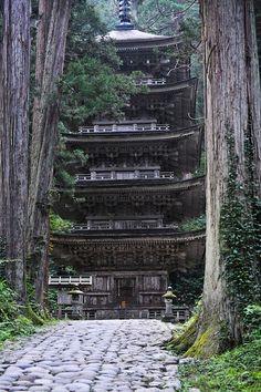 The five story pagoda, Mt Haguro, Yamagata, Japan