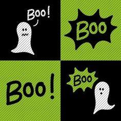 Plotterdatei »Boo!« (4er Set) - Plotterdateien bei Makerist