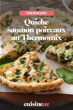 Une recette de quiche au saumon et poireaux facile au Thermomix. #recette #cuisine #quiche #saumon #poireau #robotculinaire #thermomix