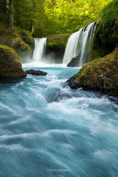 Spirit Falls by Ryan Engstrom ~ Columbia River Gorge, Washington**