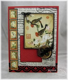 Card made with G45 Bird Song paper.