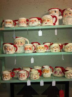Santa mugs like my collection