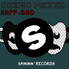 Pixel Art  My First cover Diego Mejiá - Happ-Sad. #design # cover page #spinnindeep #EDM #MASK #spinninrecords #electronic #music