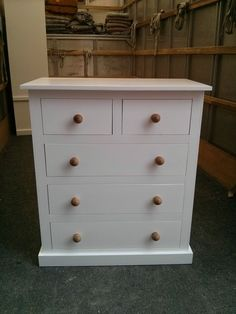 OLD MILL PINE FURNITURE EDWARDIAN RANGE 3 2 DRAWER CHEST WHITE LIGHT OAK HANDLES