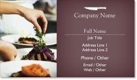 caterer catering Standard Business Cards