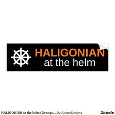Shop HALIGONIAN at the helm (Orange, White, Black) Bumper Sticker created by AponxDesigns. Bumper Stickers, Goodies, Orange, Black, Bumper Stickers For Cars, Sweet Like Candy, Gummi Candy, Black People, Sweets