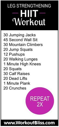 Leg Strengthening Workout - If you want to slim down your thighs and tone them up to get sexy legs fitting for even the shortest shorts this is the workout for you! CLICK THE IMAGE to learn more about this awesome leg routine. #workout #exercise #fitness http://www.workoutbliss.com/hit-it-hard-leg-strengthening-workout/