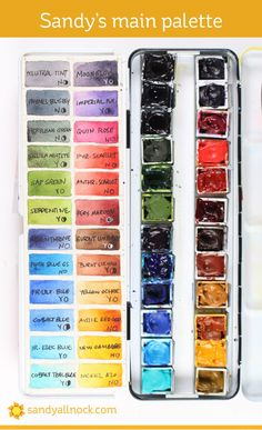 Introducing…my 2019 palettes! - Watercolour Palettes - Introducing…my 2019 palettes! Watercolor Kit, Watercolor Sketchbook, Watercolour Painting, Watercolour Palette, Watercolours, Watercolor Flowers, Let's Make Art, How To Make Paint, Sandy Allnock