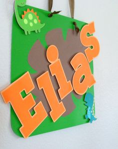 Dinosaur Party Sign / Welcoming Door Sign