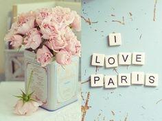 Paris inspired rose centerpiece