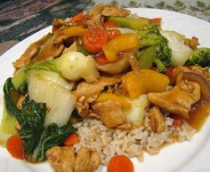 Summer Garden Chicken Stir-Fry from Food.com: From Betty Crocker Low Fat, Low Cholesterol Cooking