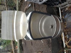 Outdoor Keg Urinal Would Work Fine Until Someone Dueced