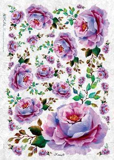 ΡΙΖΟΧΑΡΤΑ KILti FLO-0107 32X45cm, Τριαντάφυλλα μωβ