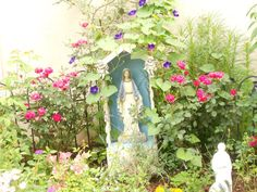 A Mary Garden at my home in Atlanta.  I have a spotlight on her at night.